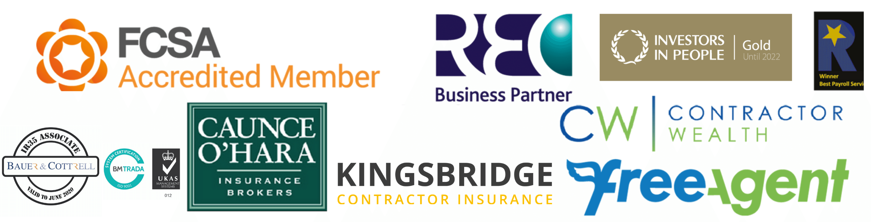Kingsbridge new resized logo Sept 2019 HS landing pages (content offers) footer with New Accreditations up to August 2019 (1)